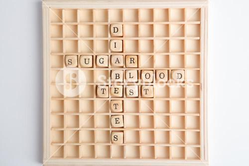 Words relating to diabetes on board game