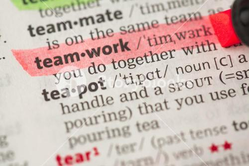 Teamwork definition highlighted in red