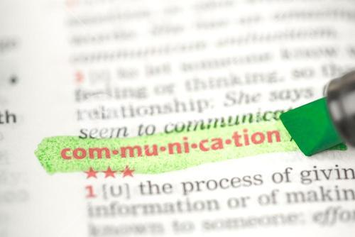 Communication definition highlighted in green