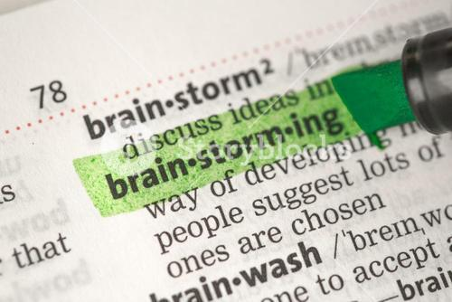 Brainstorming definition highlighted in green