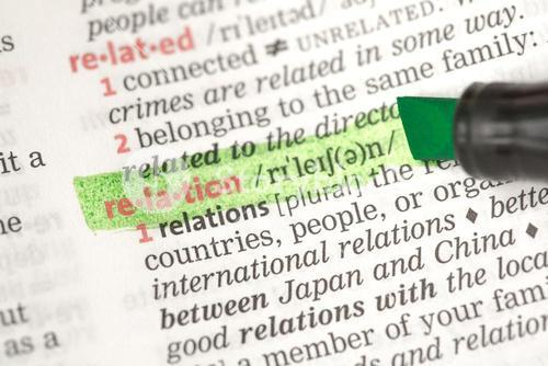 Relation definition highlighted in green