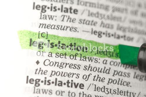 Legislation definition highlighted in green