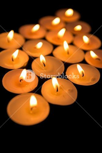 Candles in diamond shape