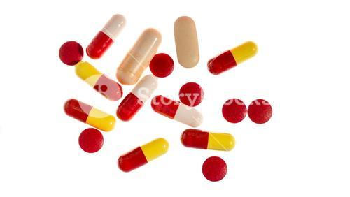 Different types of pills and tablets