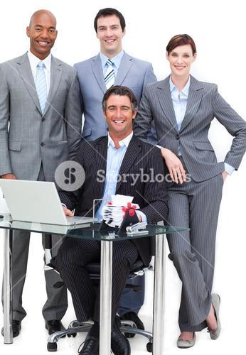 Portrait of a happy business team