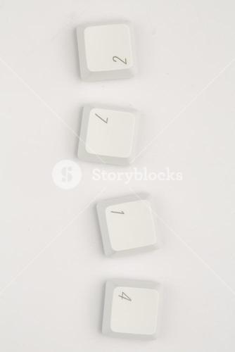Four keys of number of keyboard