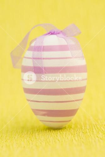 Close up on easter egg standing