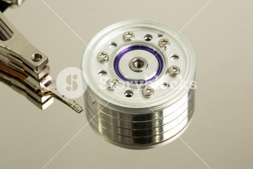 Close up of disk drive