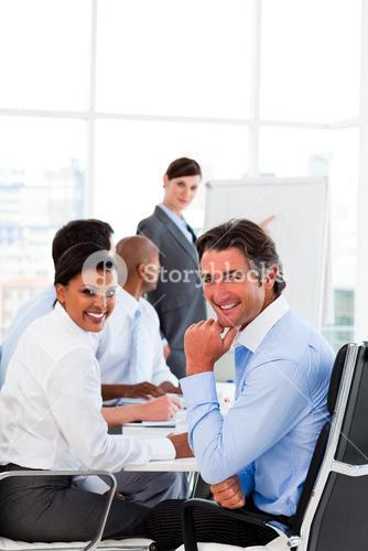 Business presentation at a meeting
