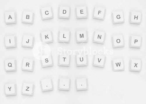 Letters spelling out alphabet