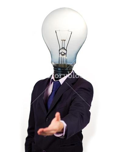 Businessman holding his hand out