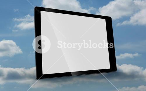 Tablet computer with blank screen