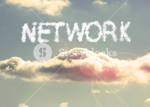 Clouds spelling out network
