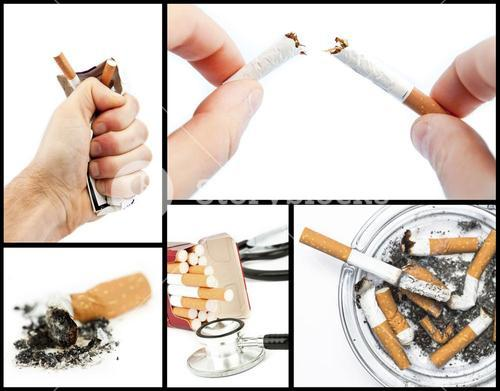 Collage with cigarettes