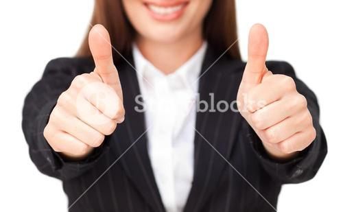 Close up of thumbs up