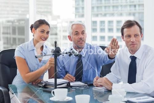 Business people having a conference