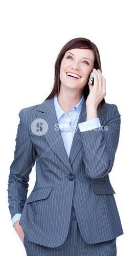 Portrait of an attractive businesswoman on phone