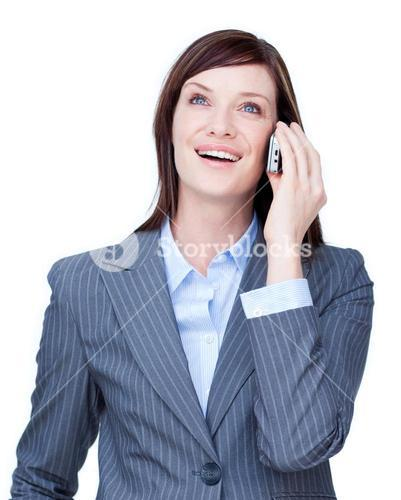 Close up of a businesswoman on phone