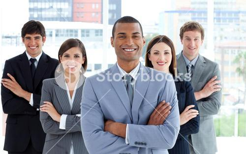 Portrait of a confident business team