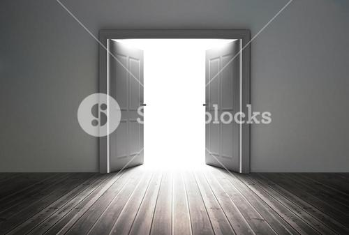Doorway revealing bright light