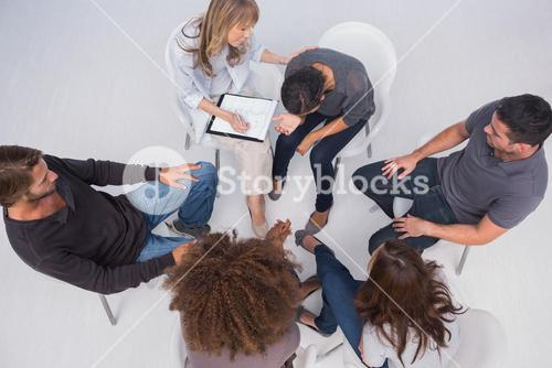 Overhead of group therapy session