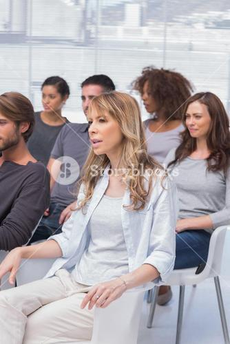 Patients listening in a therapy session