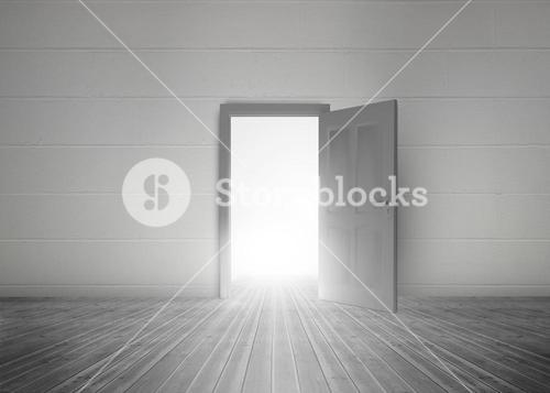 Door opening to reveal bright light