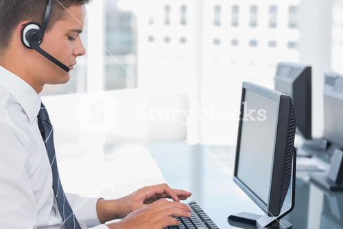 Agent working in a call centre