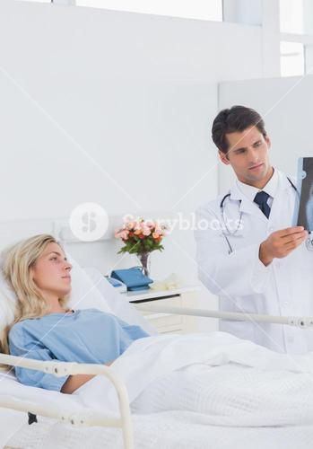 Doctor showing xray