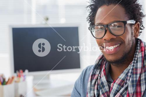 Portrait on a creative business worker