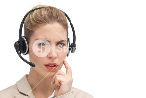 Confused call center agent