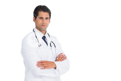Handsome doctor with arms crossed