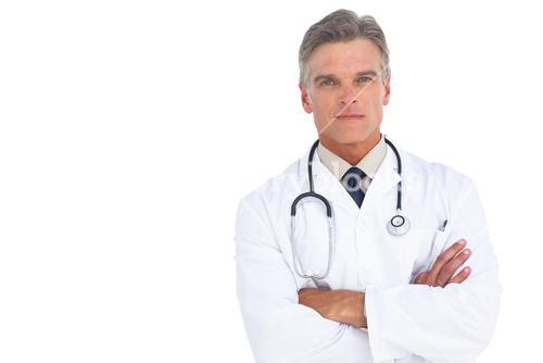 Man doctor with arms crossed