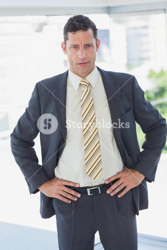 Businessman with hands on hips