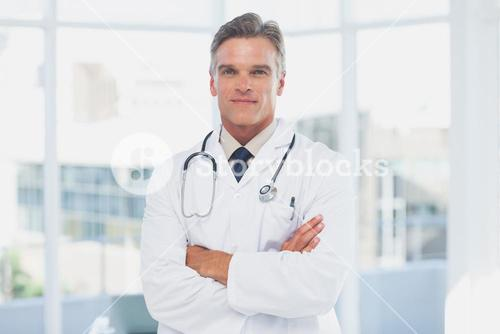 Grey haired doctor