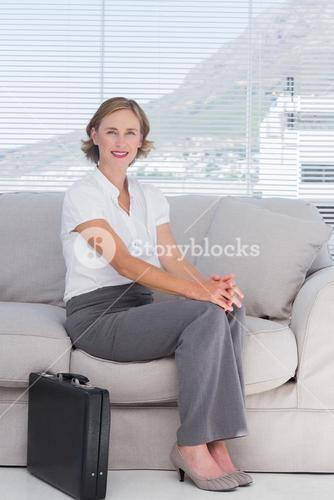 Businesswoman waiting in a waiting room