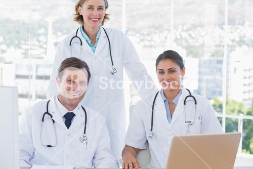 Group of doctors working together