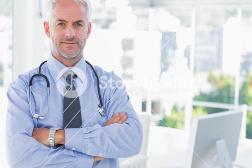 Doctor with arms crossed
