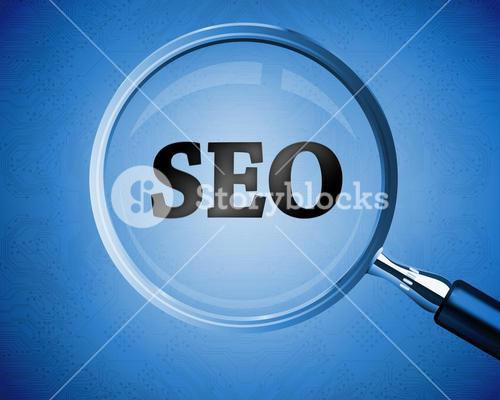 Magnifying glass revealing the word SEO