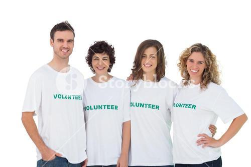 Cheerful group of volunteers