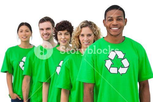Smiling group of environmental activists