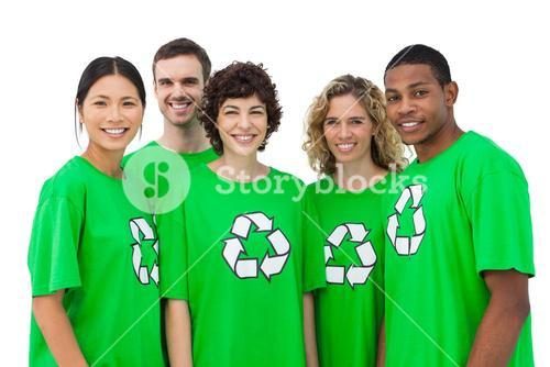 Group of environmental activists smiling