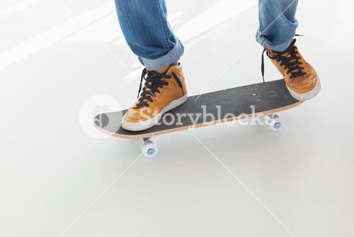 Skater on his board