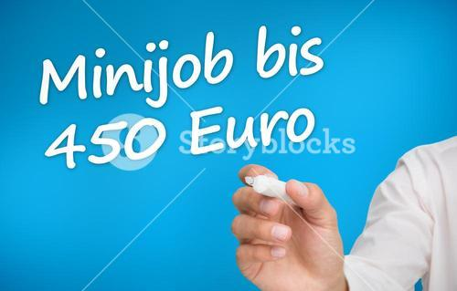 Hand writing with a marker minijob bis 450 euro
