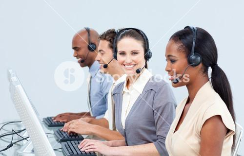 Assertive customer service representatives in a callcenter