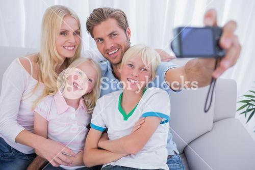 Family taking pictures