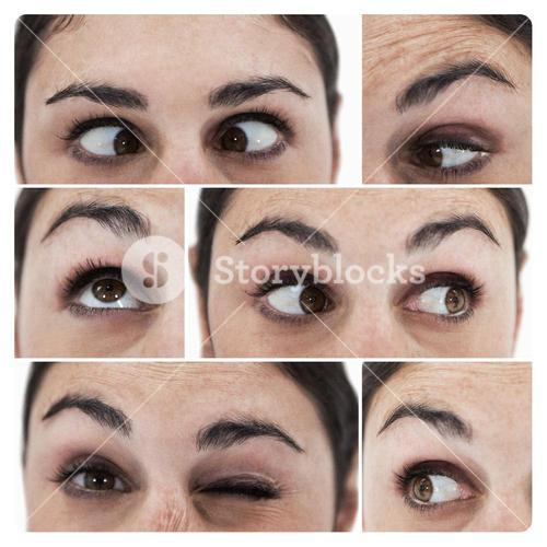 Collage of different pictures showing the eyes