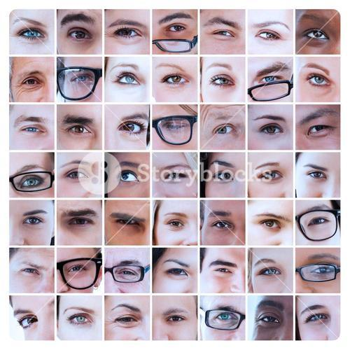 Collage of eyes