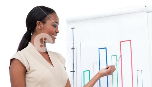 Assertive businesswoman doing a presentation