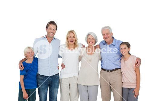 Extended family gesturing